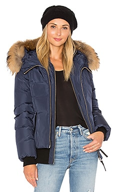 Romane Jacket with Asiatic Raccoon Fur Trim en Encre