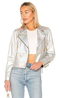 Baya Cropped Leather Jacket Mackage $428