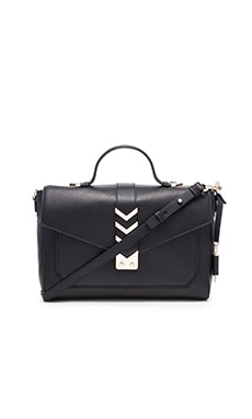 Caine Medium Satchel in Black