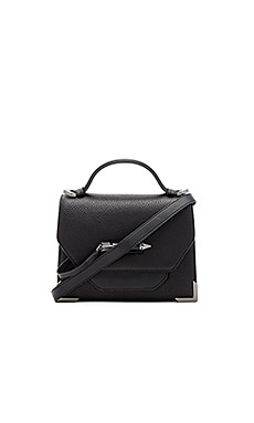 Mackage Keeley Crossbody Bag in Black & Gunmetal