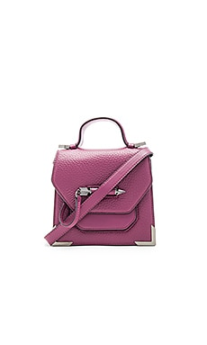 Mackage Rubie Mini Crossbody Bag in Berry & Gunmetal