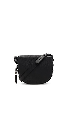 Rima Crossbody Bag in Black & Gunmetal