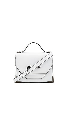 Keeley Crossbody Bag in White & Gunmetal