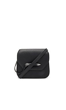 Novaki Mini Crossbody Bag in Black & Gunmetal