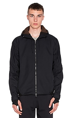 Maharishi Integrated Hooded Jacket in Black