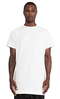 Maharishi Long Slouch T-Shirt in Maha White