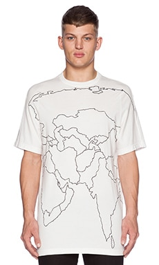 Maharishi Mid Slouch Tee in White