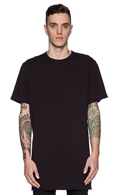 Maharishi Long Asym Tee in Black