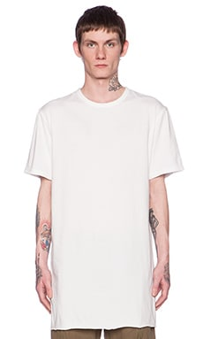Maharishi Long Asym Tee in White