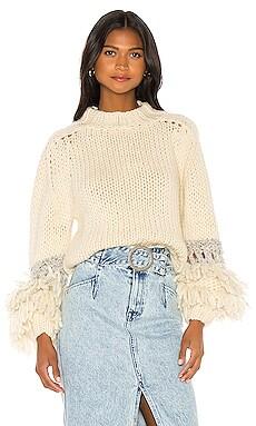 Short Sweater With Fringe Balloon Sleeve Maiami $583