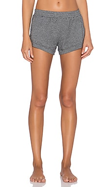 MAISON DU SOIR Elody Short in Heather Gray Mini Stripe