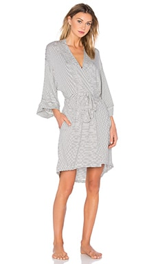 MAISON DU SOIR Florence Robe in Black & White Stripe