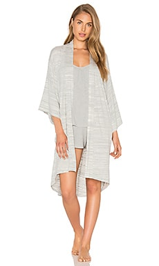 Florence Knit Robe in Ivory Space Dye