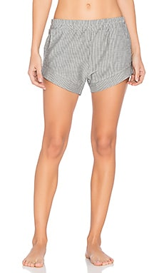Jane Shorts in Grey Pinstripe