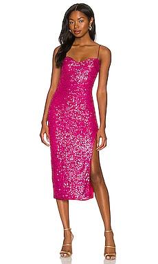 Maizie Midi Dress MAJORELLE $218 NEW