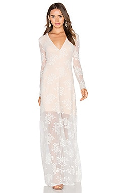 MAJORELLE Aztec Maxi Dress in Ivory