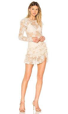 Купить Платье с длинным рукавом lee - MAJORELLE, Мини, Китай, Кремовый