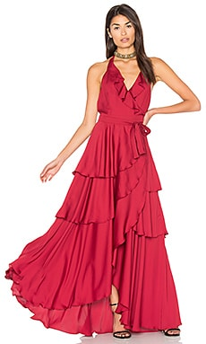 Victoria Falls Dress in Bordeaux