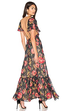 Opulence Maxi Dress in Rose Floral