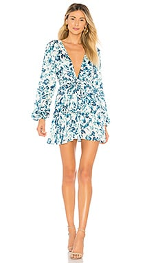 Купить Мини-платье с длинным рукавом berkshire - MAJORELLE, Китай, Синий