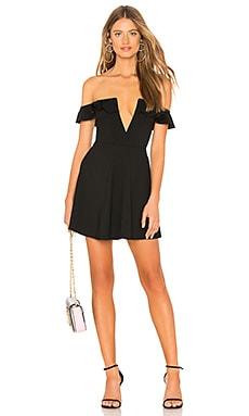 Купить Мини с открытыми плечами poise - MAJORELLE черного цвета