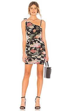 Купить Мини-платье на одно плечо cassandra - MAJORELLE черного цвета