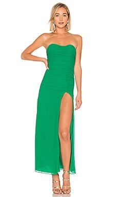 Купить Без бретелей макси iridessa - MAJORELLE зеленого цвета