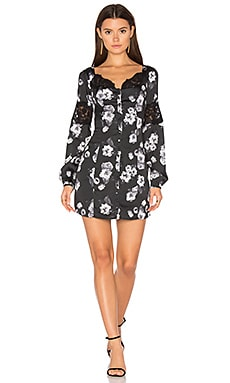 Chloe Dress in Black & White Floral