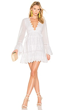 Western Ridge Dress in White