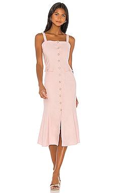 Otis Midi Dress MAJORELLE $228