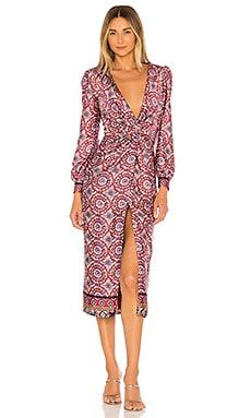 Augustina Midi Dress MAJORELLE $238