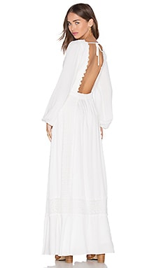 Prairie Maxi Dress in Ivory