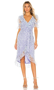 Lawson Midi Dress MAJORELLE $248 NEW ARRIVAL