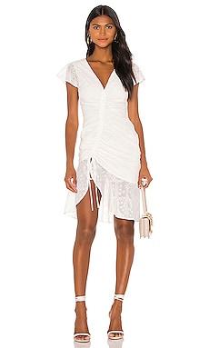 Платье миди elaine - MAJORELLE Короткий рукав фото