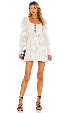 Reece Smocked Dress MAJORELLE $238