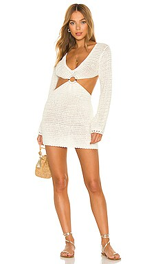 Olivia Crochet Mini Dress MAJORELLE $128 NEW