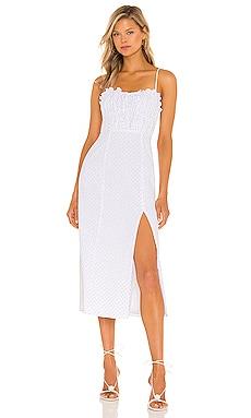Harper Midi Dress MAJORELLE $198 NEW