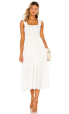 Kimmie Midi Dress MAJORELLE $228 NEW