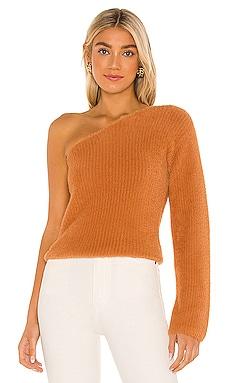 Fuzzy One Shoulder Sweater MAJORELLE $148