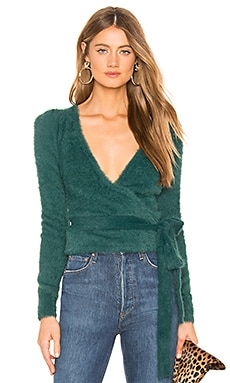 Coco Wrap Sweater MAJORELLE $138