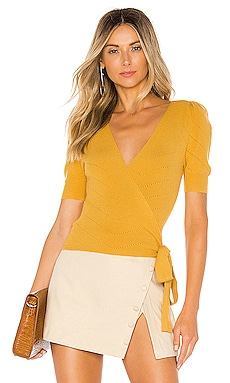 Ginette Wrap Sweater MAJORELLE $46 (FINAL SALE)