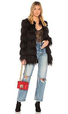 Vale Faux Fur Coat MAJORELLE $174