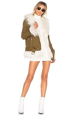 Tiana Sherpa Jacket MAJORELLE $108