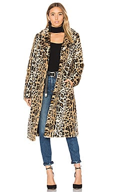 Fifi Faux Fur Coat in Leopard