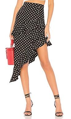 Фото - Миди юбка с рюшами sugar rush - MAJORELLE черного цвета