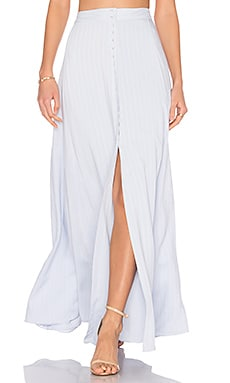 x REVOLVE Sangria Maxi Skirt in Dusty Blue