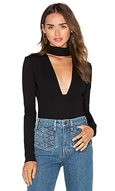 MAJORELLE Fresian Bodysuit in Black