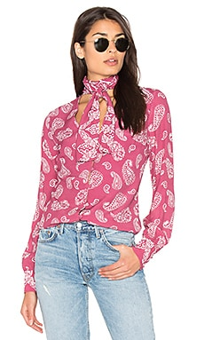 Attache Blouse in Red Earth Paisley