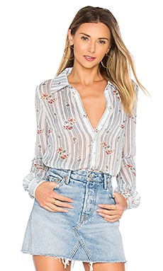Sussex Blouse in Striped Floral