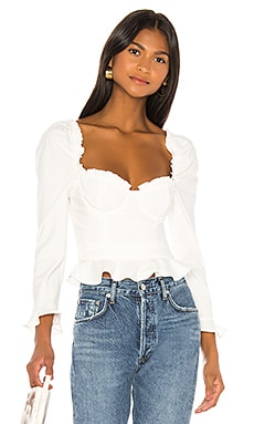 Corie Top In White MAJORELLE $158